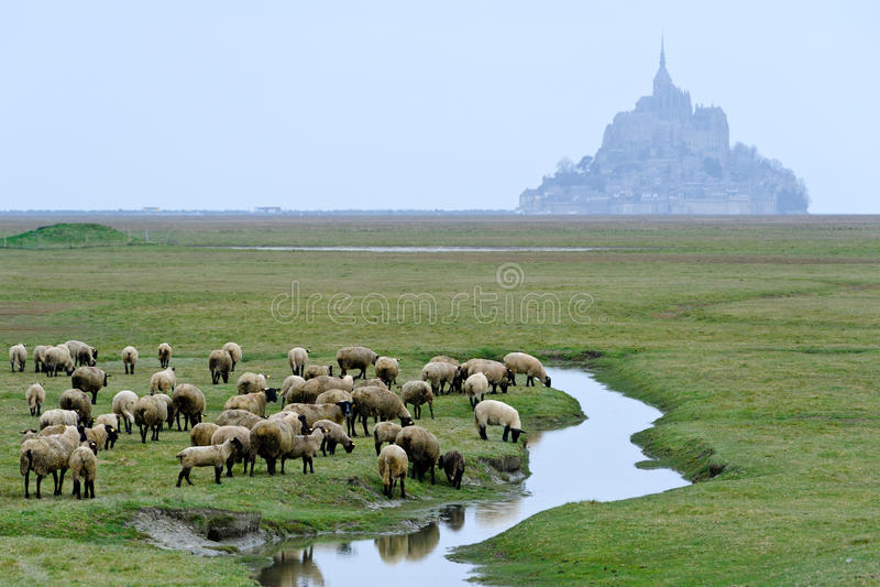 San Michel del Le mont fotografie stock libere da diritti