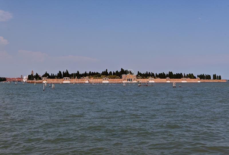 San Michele, Cemetery island, Venice, Italy royalty free stock photo