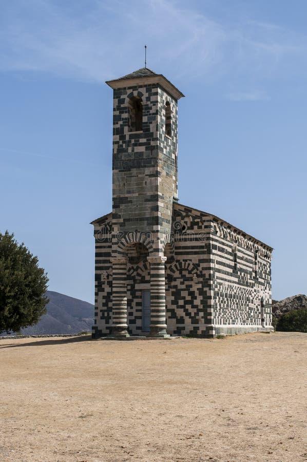 San Michele de Murato, church, Murato, Haute-Corse, Corsica, France, island, Europe. Corsica, 29/08/2017: view of the Church of San Michele de Murato, a small royalty free stock image