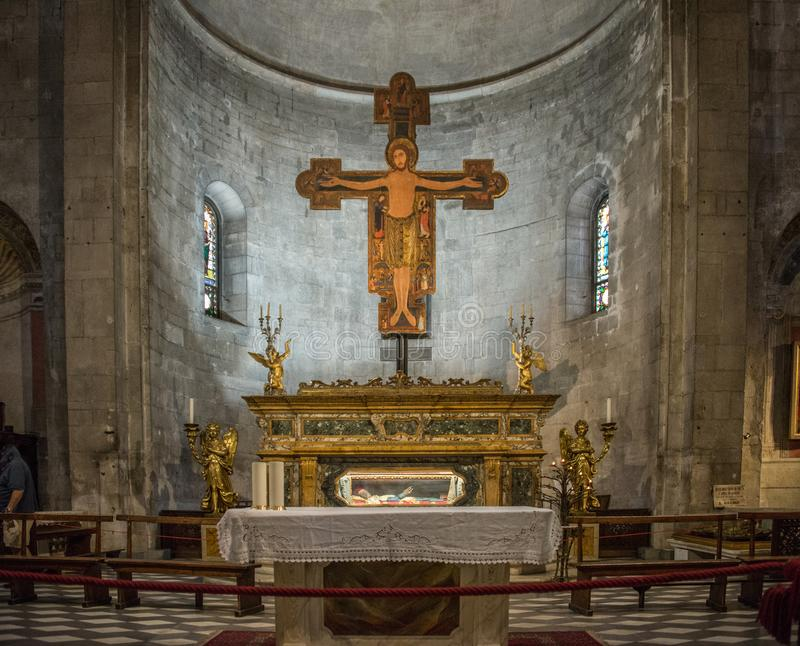 San Michele in Foro in Luca, Itali? stock afbeelding