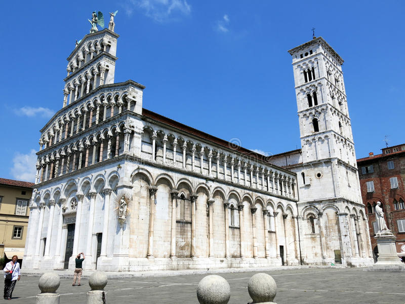 San Michele in foro, Lucca, Italia immagini stock libere da diritti