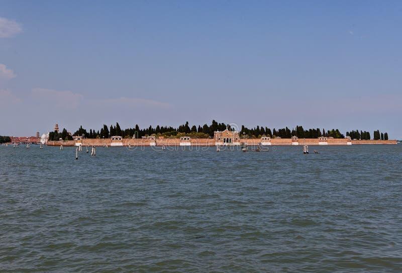 San Michele, ilha do cemitério, Veneza, Itália foto de stock royalty free