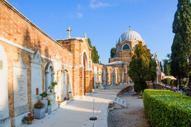 San Michele Island, Venedig royaltyfria bilder