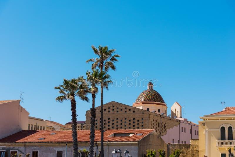 San Michele kopuła w Alghero zdjęcie stock