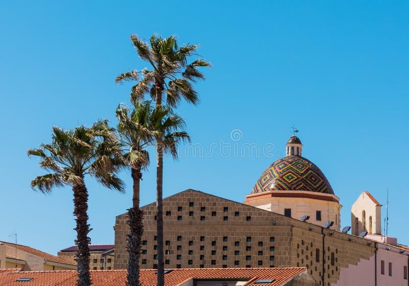 San Michele kopuła w Alghero obrazy royalty free
