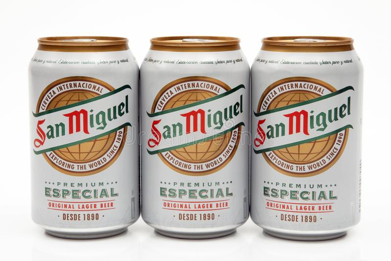 SAN MIGUEL BEER stock photography