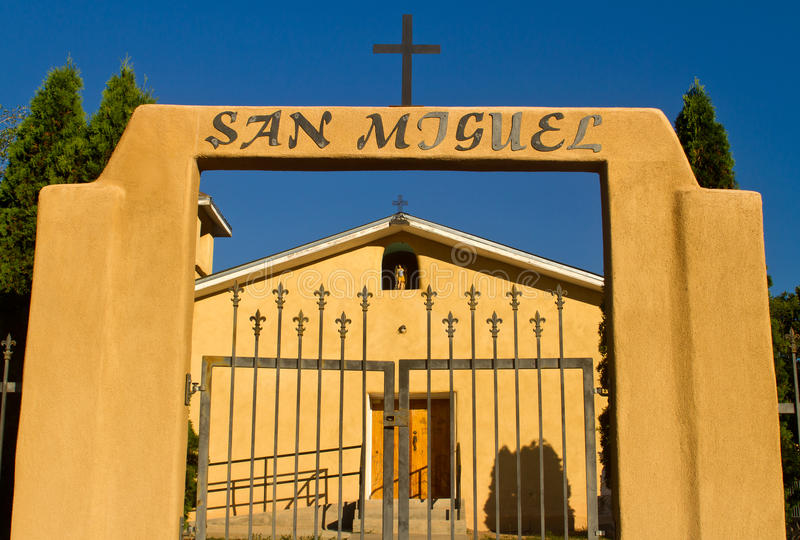 San Miguel Catholic Church, Abiquiu, New Mexico. San Miguel Catholic Church in Canones, New Mexico stock photography