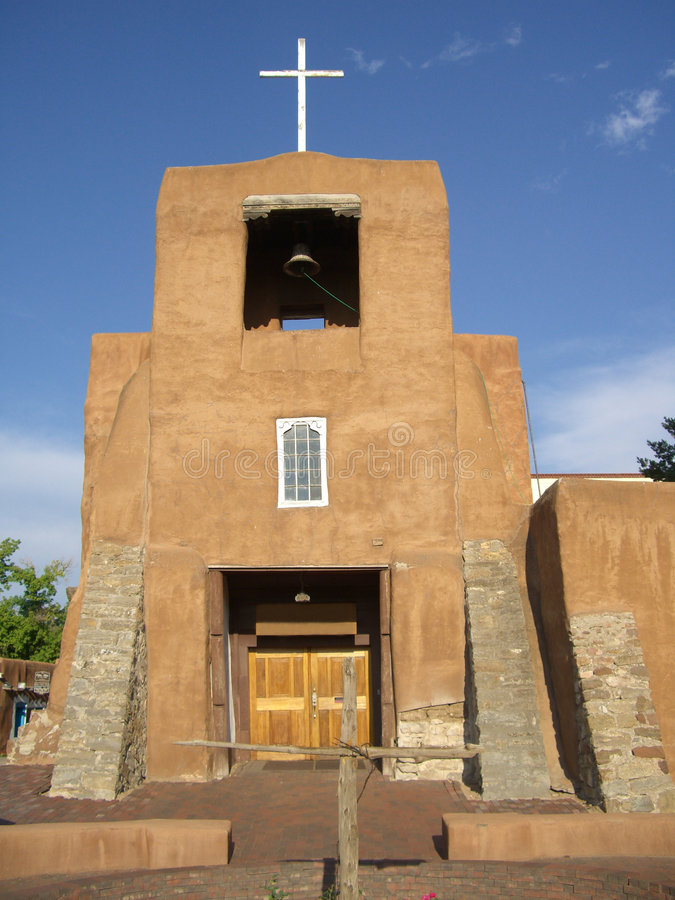 San Miguel Church. Photo of San Miguel church in Santa Fe New Mexico. This church is considered the oldest church in the United States of America royalty free stock image
