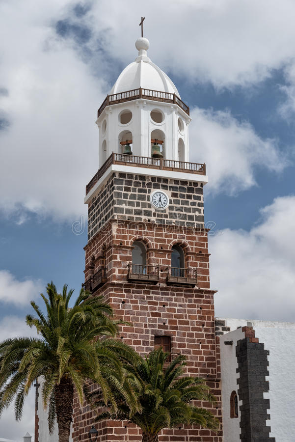 San Miguel Church belfry Lanzarote Teguise stock photos