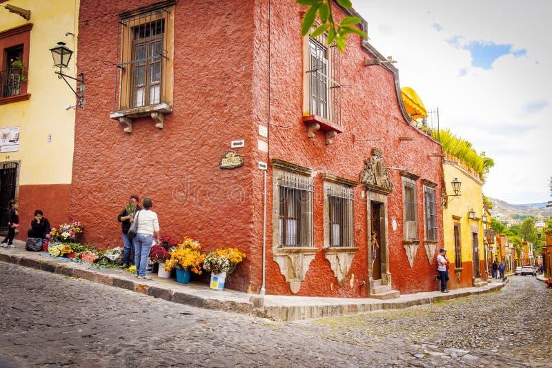 San Miguel de Альенде Улица, Мексика стоковая фотография rf