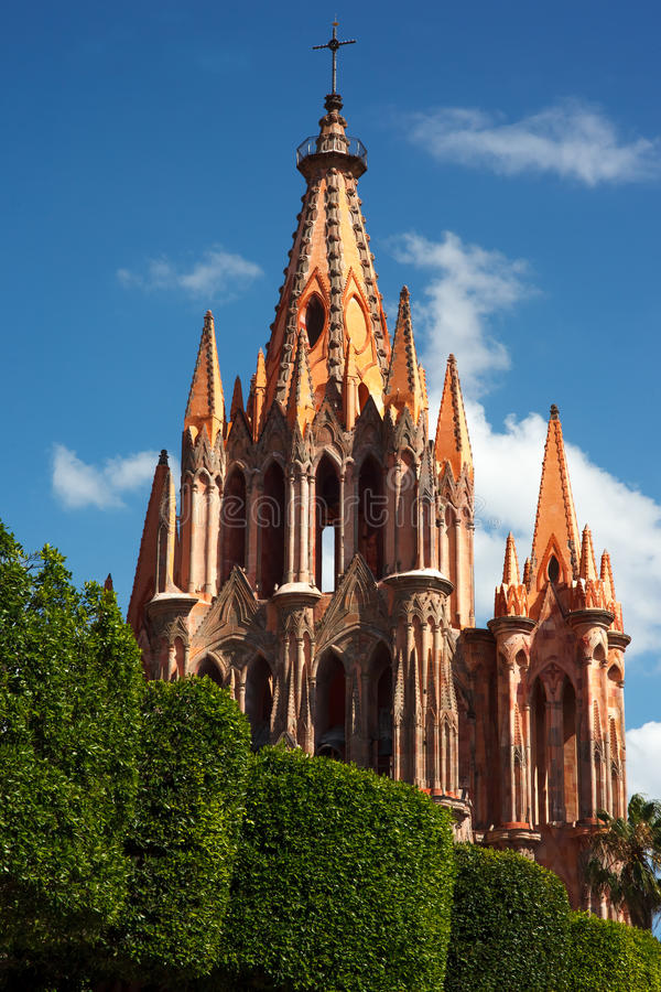San Miguel de Allende Church royaltyfria bilder