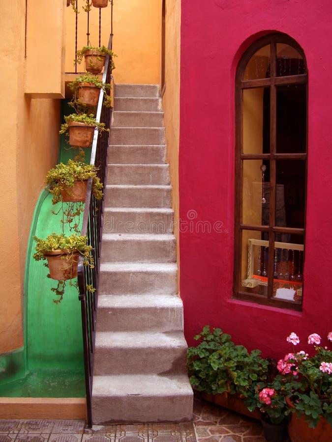 San Miguel De Allende Courtyard foto de archivo