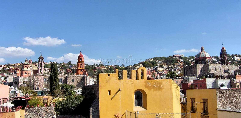 San Miguel de Allende da baixa imagem de stock
