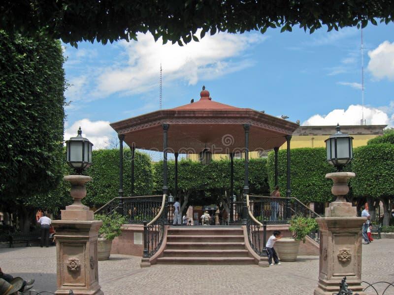 San Miguel de Allende Gazebo Messico fotografie stock