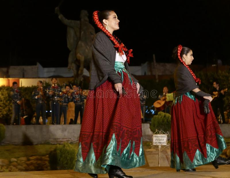 San Miguel De Allende-January 18, 2017: Mexican Folk Dancers royalty free stock photography