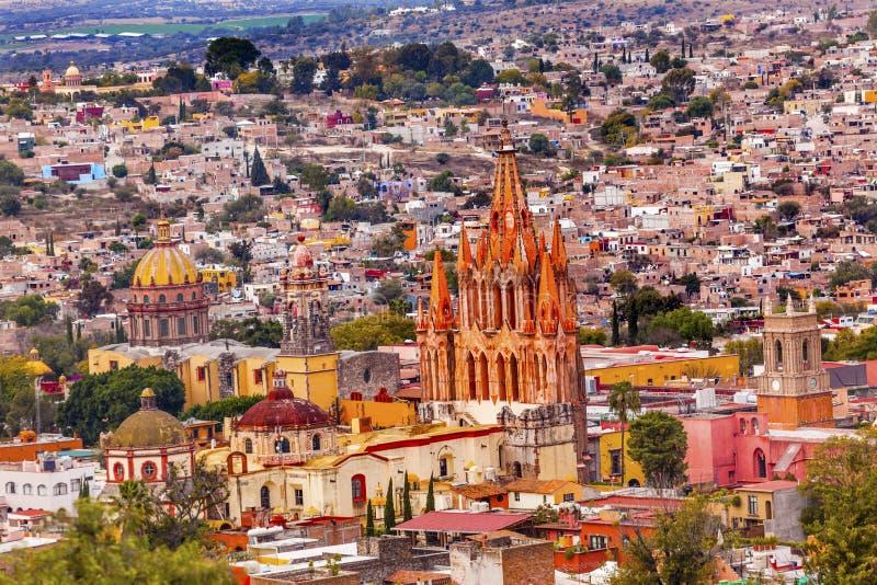 San Miguel de Allende Mexico Miramar Overlook Parroquia fotografia de stock royalty free