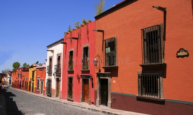 San Miguel De allende street fotografia royalty free