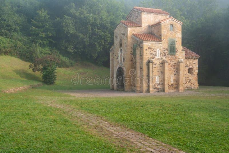 San Miguel de Lillo, Oviedo, Espanha imagens de stock