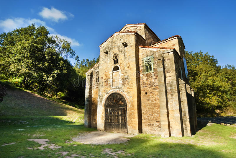 San Miguel de Lillo Oviedo Spain. San Miguel de Lillo Oviedo royalty free stock images