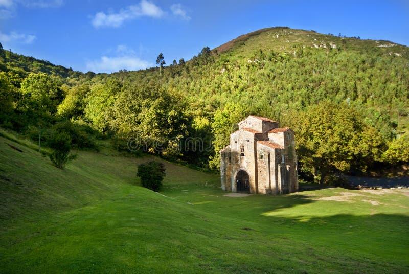 San Miguel de Lillo Oviedo Spain. Panoramic of San Miguel de Lillo Oviedo royalty free stock images
