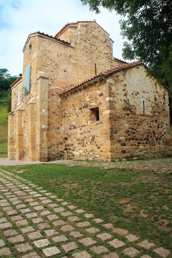San Miguel de Lillo, Oviedo, Spanien lizenzfreie stockfotografie