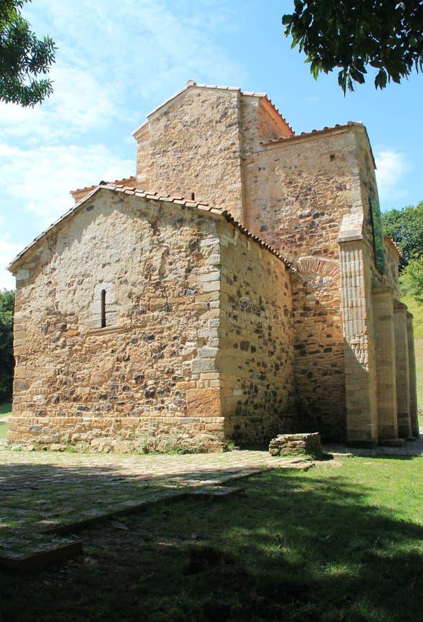 San Miguel de Lillo, Oviedo, Spanien lizenzfreies stockbild