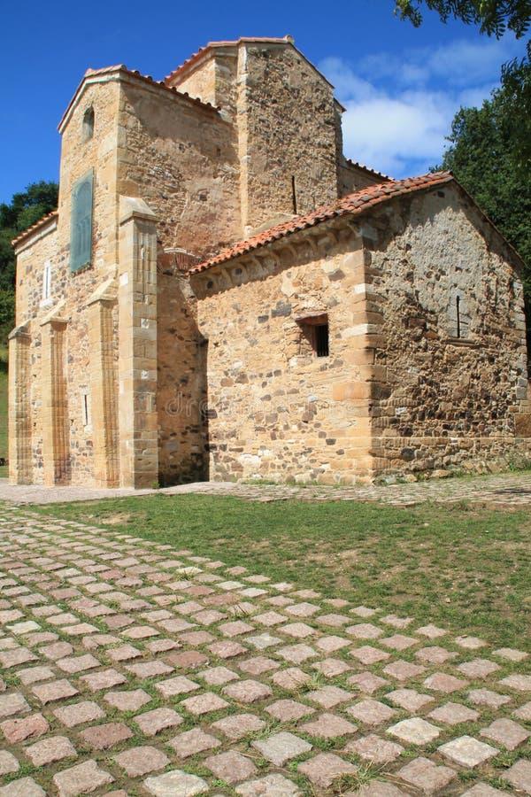 San Miguel de Lillo, Oviedo, Spanien stockbild