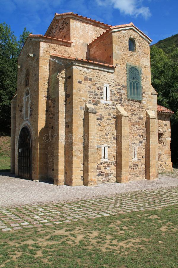 San Miguel de Lillo, Oviedo, Spanien lizenzfreies stockfoto