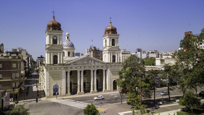 San Miguel de Tucumán/Tucumán/Argentinië - 01 01 19: Cathedraal van Onze Vrouwe van de Incarnatie, San Miguel de Tucumán, Argenti stock afbeeldingen