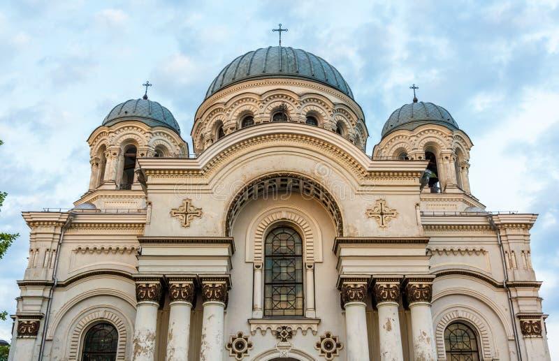San Miguel la iglesia del arcángel en Kaunas imágenes de archivo libres de regalías