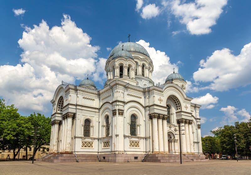 San Miguel la iglesia del arcángel en Kaunas fotos de archivo