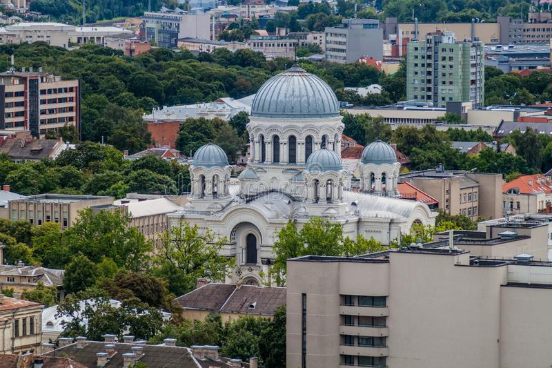 San Miguel la iglesia del arcángel en Kaunas, Lithuani imagen de archivo