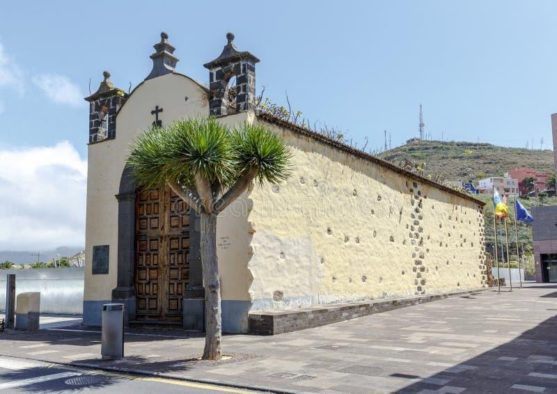 San Miguel in Puerto de la Cruz, Tenerife. Typical canarian church ermita de San Miguel in Puerto de la Cruz, Tenerife, Canarias, Spain stock photos