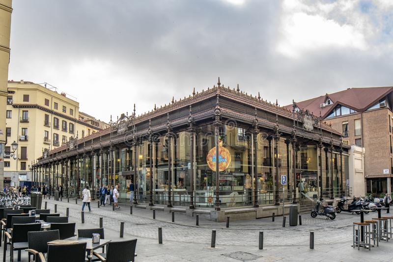 San Miguel rynek na centrum miasta Madryt obraz royalty free