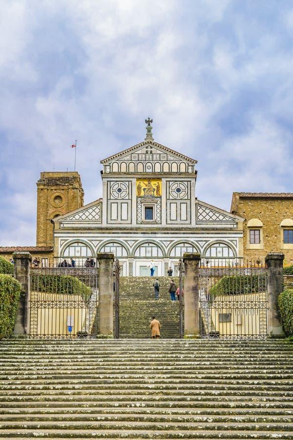 San Miniato al Monte Basilica, Florence, Italy stock photos
