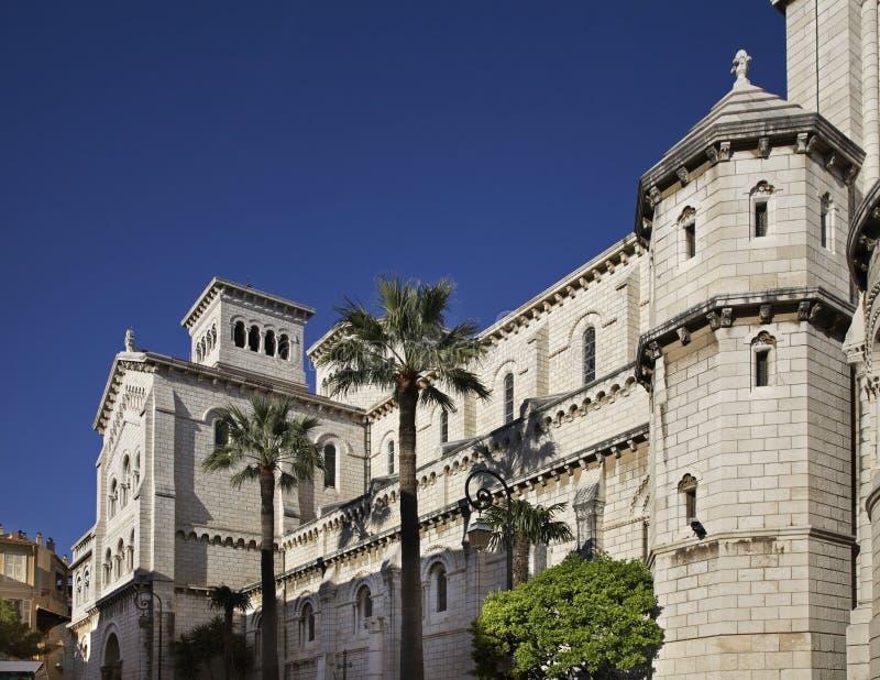 San Nicholas Cathedral nel Monaco-Ville Principato della Monaco fotografia stock