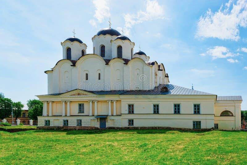 San Nicholas Cathedral Yaroslavl Courtyard in Veliky Novgorod, Russia immagine stock libera da diritti