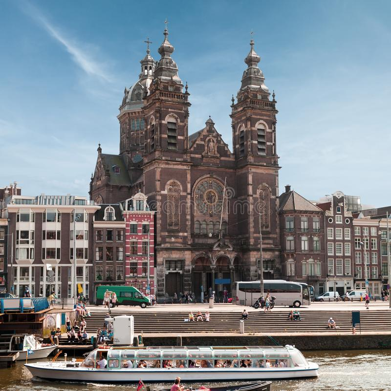 San Nicholas Church, Amsterdam, Paesi Bassi immagine stock