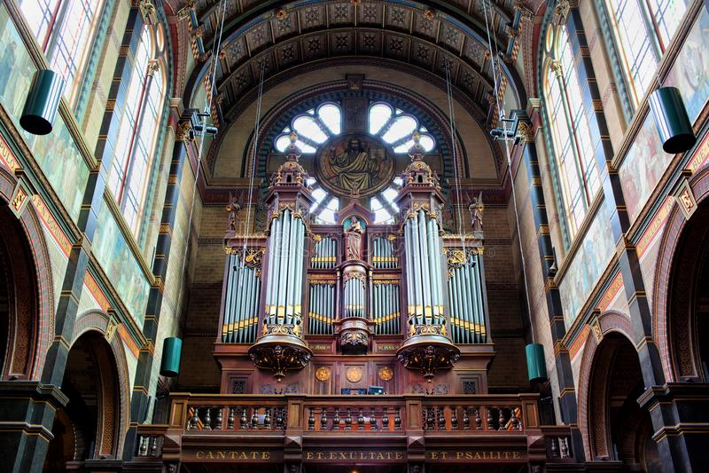 San Nicholas Church Organs a Amsterdam fotografia stock libera da diritti