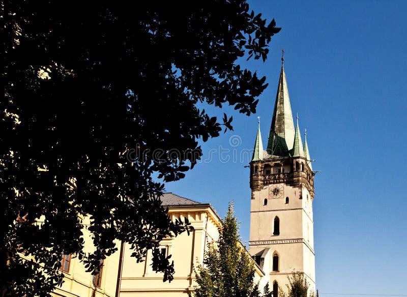 San Nicholas Gothic Cathedral in Presov, Slovacchia, Europa fotografia stock