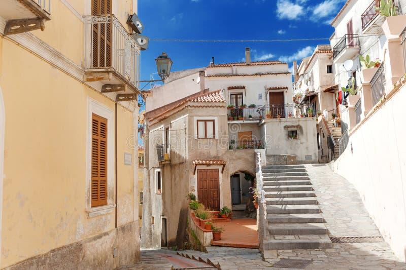 San Nicola Arcella, Kalabrien, südlich von Italien lizenzfreies stockbild