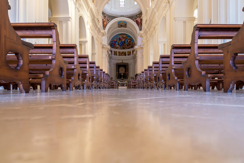 San Nicolo duomo in Noto in Southern Sicily, Italy royalty free stock image