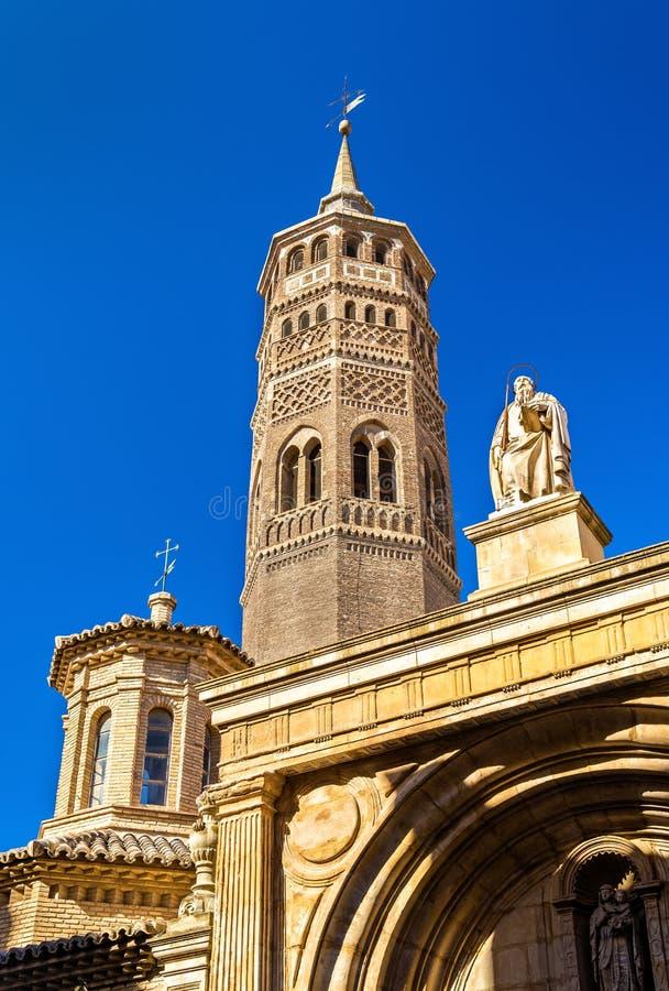 San Pablo Church a Saragozza, Spagna fotografie stock libere da diritti