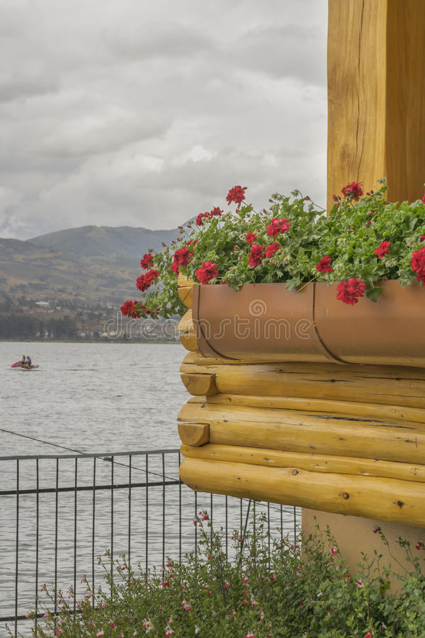 San Pablo Lake Imbabura Ecuador foto de stock