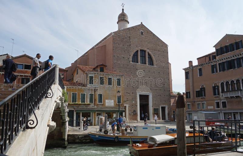 San Pantalon kyrka i den Dorsoduro sestieren av Venedig, Italien royaltyfri foto