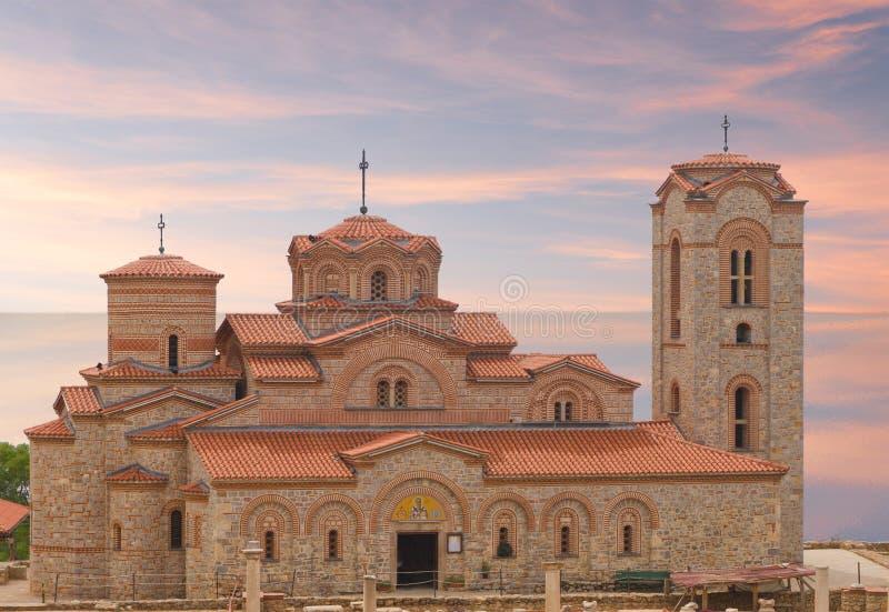 San Panteleimot della chiesa nel lago immagine stock libera da diritti