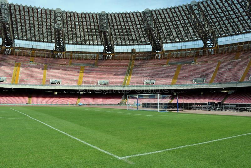 San Paolo stadium goal stock images