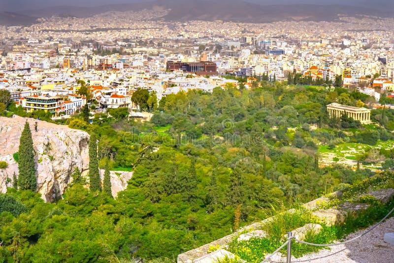 San Paul Rock Agora Acropolis Athens Grecia di Areopagus fotografie stock