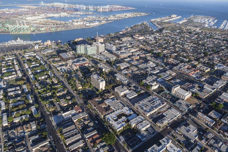 San Pedro California Aerial View immagini stock libere da diritti