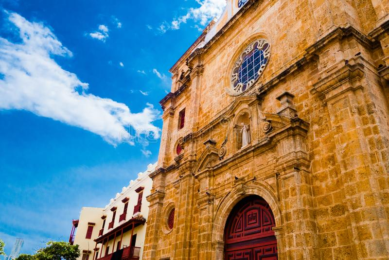 San Pedro Claver Cathedral a Cartagine de Indias, Colombia fotografia stock